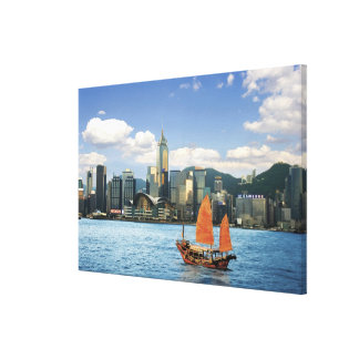 China; Hong Kong; Victoria Harbour; Harbor; A Canvas Prints