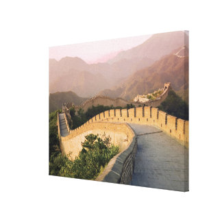 China, Huairou County, Sunset over the Gallery Wrap Canvas