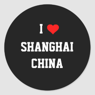 CHINA: I Love Shanghai Classic Round Sticker