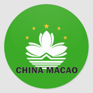 China Macao Roundel quality Flag Classic Round Sticker