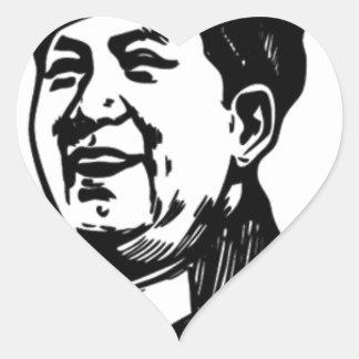 China Mao symbol Heart Sticker