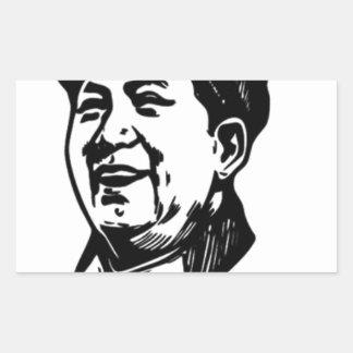 China Mao symbol Rectangular Sticker