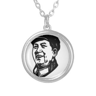 China Mao symbol Silver Plated Necklace