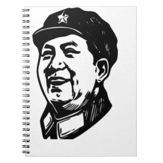 China Mao symbol Spiral Notebook