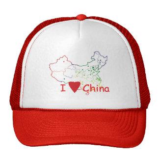 china-map-hat cap
