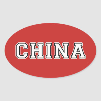 China Oval Sticker