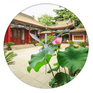 China Pagoda Interior Large Clock