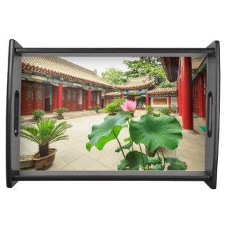 China Pagoda Interior Serving Tray