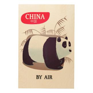 China Panda travel poster