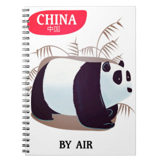 China Panda travel poster Notebooks