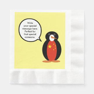 China People's Republic Penguin Disposable Napkins