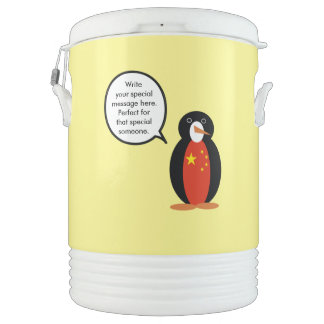 China People's Republic Penguin Drinks Cooler