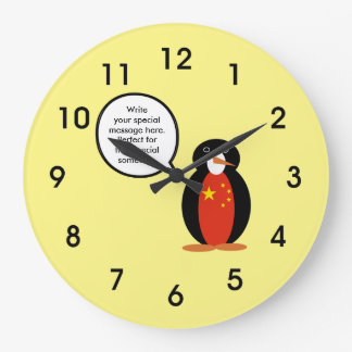 China People's Republic Penguin Large Clock