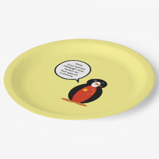 China People's Republic Penguin Paper Plate