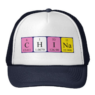China periodic table name hat