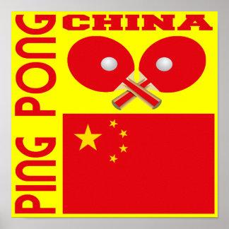 China Ping Pong Poster
