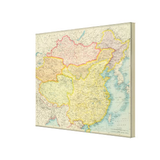 China political map gallery wrapped canvas