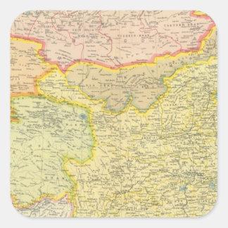 China political map sticker