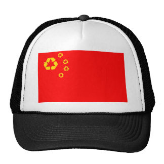 China recycling flag hat