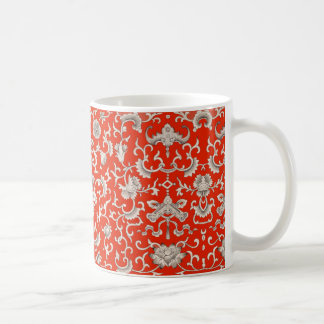 China Red Lacquer Design Mug