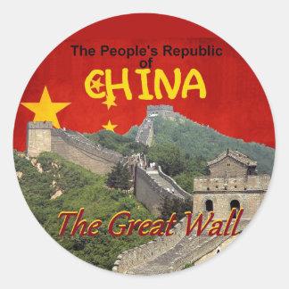 CHINA ROUND STICKER