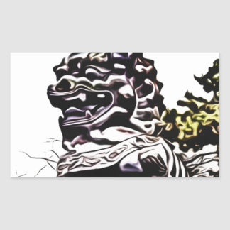 china sculpture monument rectangular sticker
