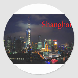 china shanghai (St.K) Classic Round Sticker