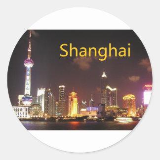 China Shanghai (St.K) Round Sticker