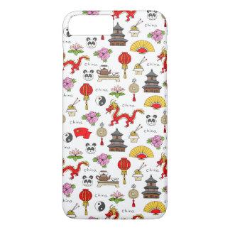 China Symbols Pattern iPhone 8 Plus/7 Plus Case