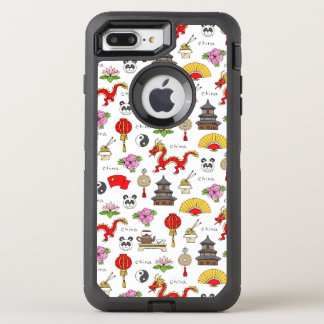 China Symbols Pattern OtterBox Defender iPhone 8 Plus/7 Plus Case