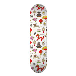 China Symbols Pattern Skate Board Deck