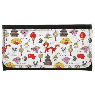 China Symbols Pattern Wallet