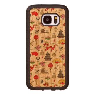 China Symbols Pattern Wood Samsung Galaxy S7 Case