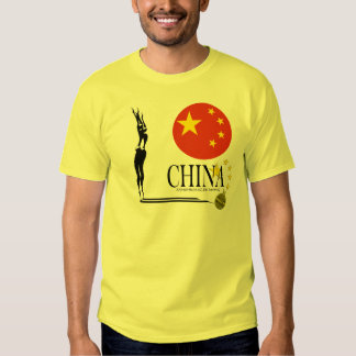 China Synchronized Diving Gold Medal Win T-Shirt