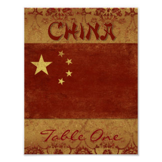China Table Number Poster