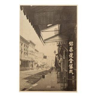 China town street in San Francisco vintage Wood Canvases