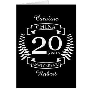 China Traditional wedding anniversary 20 years Card