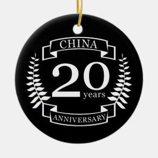 China Traditional wedding anniversary 20 years Ceramic Ornament