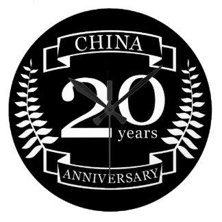 China Traditional wedding anniversary 20 years Large Clock