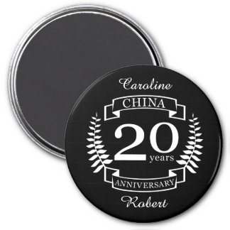 China Traditional wedding anniversary 20 years Magnet