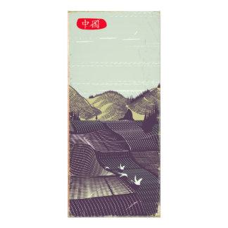 China vintage old style landscape travel poster