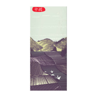China vintage style landscape travel poster canvas print