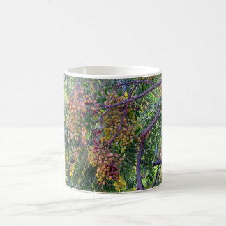 Chinaberry fruit on the tree coffee mug