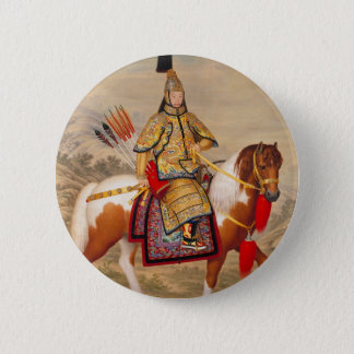 China's Qianlong Emperor 乾隆帝 in Ceremonial Armour 6 Cm Round Badge