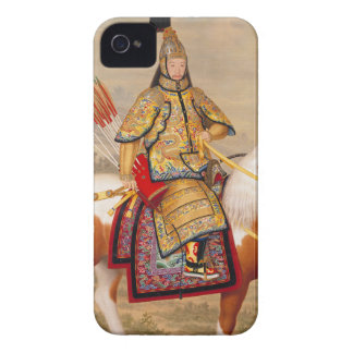 China's Qianlong Emperor 乾隆帝 in Ceremonial Armour iPhone 4 Case-Mate Cases
