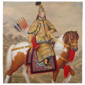 China's Qianlong Emperor 乾隆帝 in Ceremonial Armour Napkin