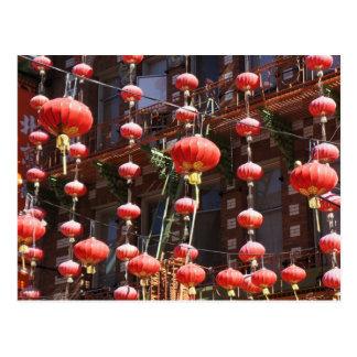 Chinatown Chinese Lanterns Postcard