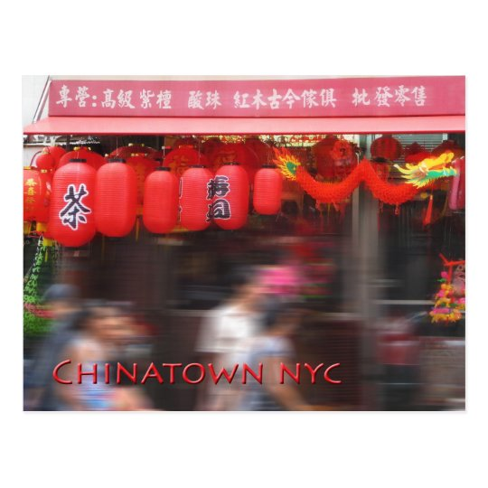 Chinatown New York City Postcard