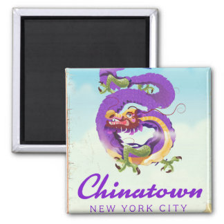 Chinatown New York city vintage poster Magnet