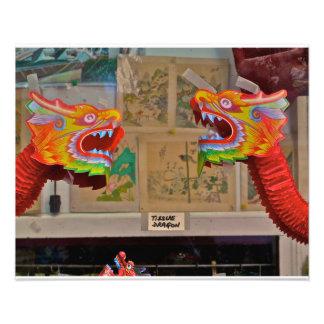Chinatown, NYC- Tissue Dragons Art Photo